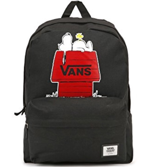9a01ee9f655e Vans Snoopy Backpack Black